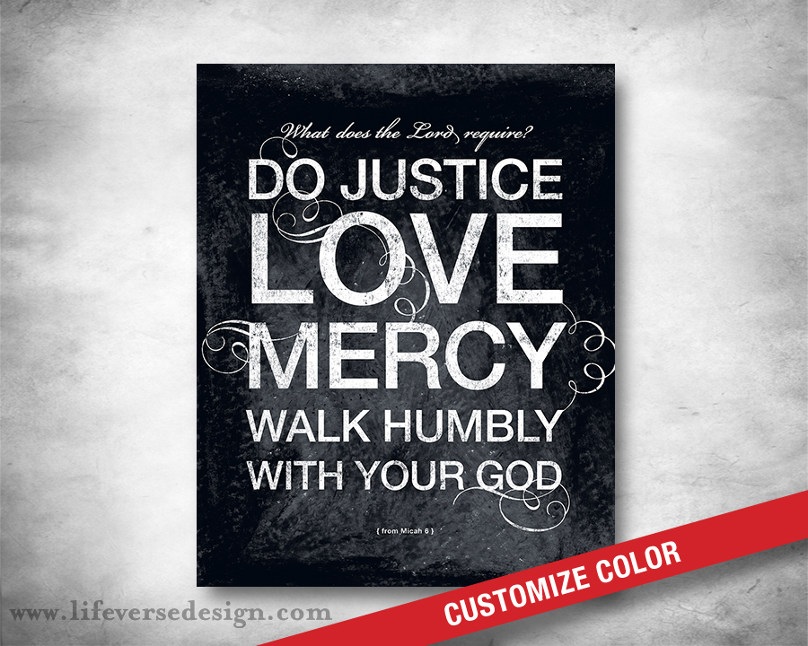 Justice And Mercy Quotes: Micah 6:8 Scripture Art Do Justice Love Mercy Walk Humbly
