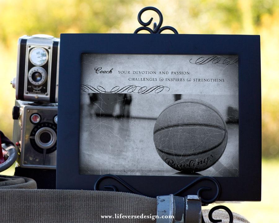 basketball coach gift team thank you gift life verse design