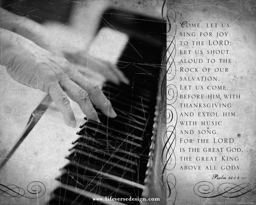 psalm 095 sing for joy life verse design. Black Bedroom Furniture Sets. Home Design Ideas